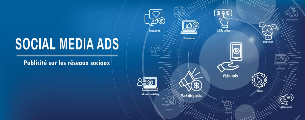 Publicité sur les réseaux sociaux - socia media ads